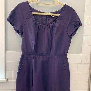 J. Crew Dolores Plum Purple Pocket Dress